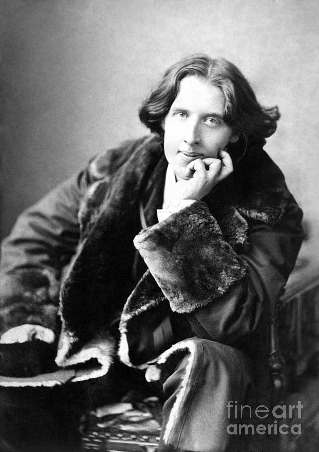 1900; Writer; Seated; Fur-trimmed Coat; Author; Oscar Wilde Photograph - Oscar Wilde In His Favourite Coat 1882 by Napoleon Sarony