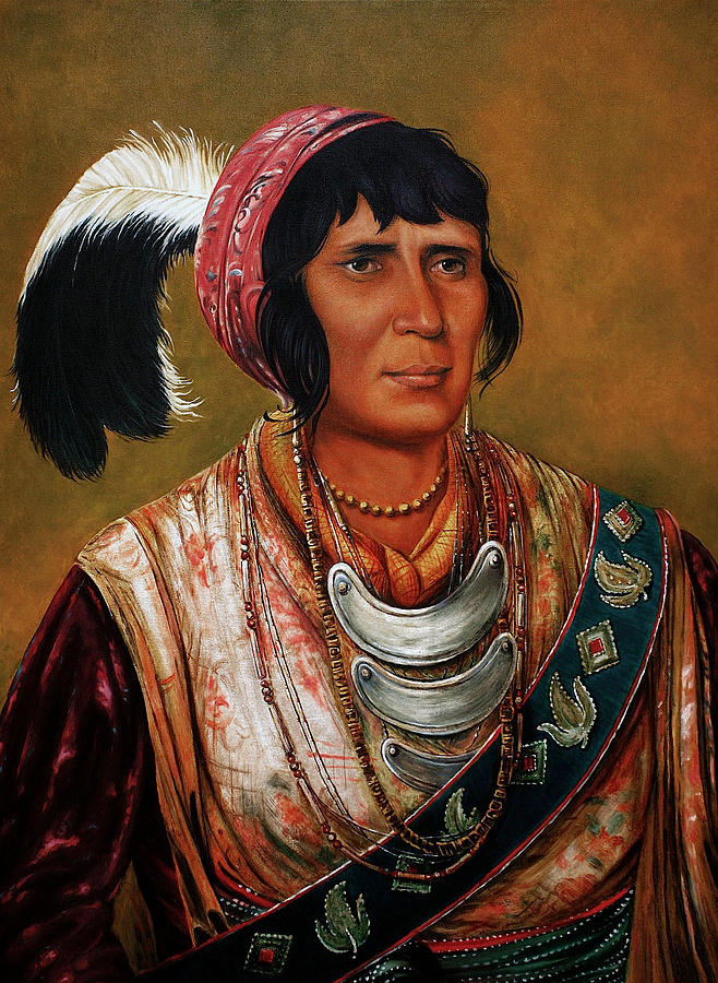 Native American Paintings Painting - Osceola The Black Drink A Warrior Of Great Distinction By John Travisano After George Catlin by John Travisano