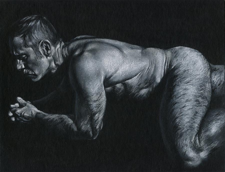 Male Drawing - Oscuro 15 by Chris Lopez