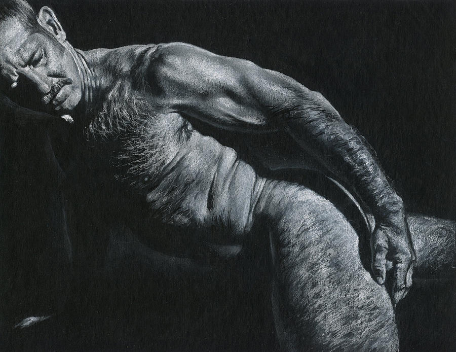 Male Drawing - Oscuro 16 by Chris Lopez