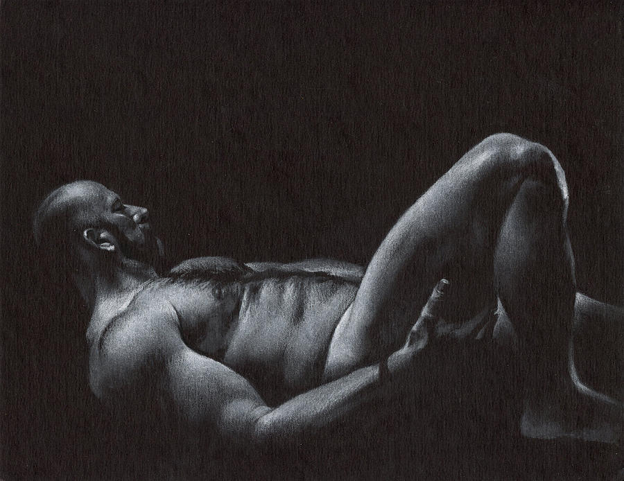 Male Drawing - Oscuro 6 by Chris Lopez