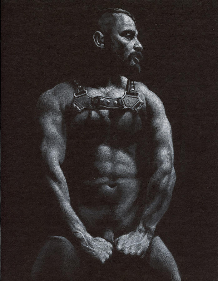Male Drawing - Oscuro 9 by Chris Lopez