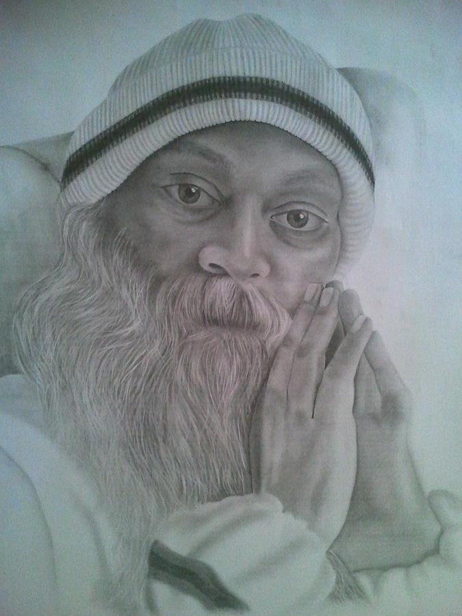 Osho Painting - Osho by Milind Badve