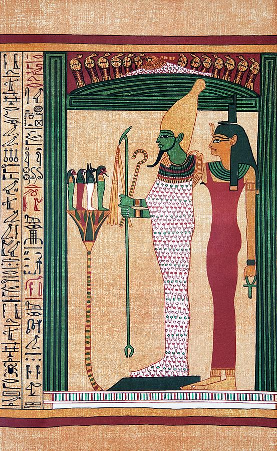 The Book Of The Dead Photograph - Osiris And Isis by Sheila Terry/science Photo Library