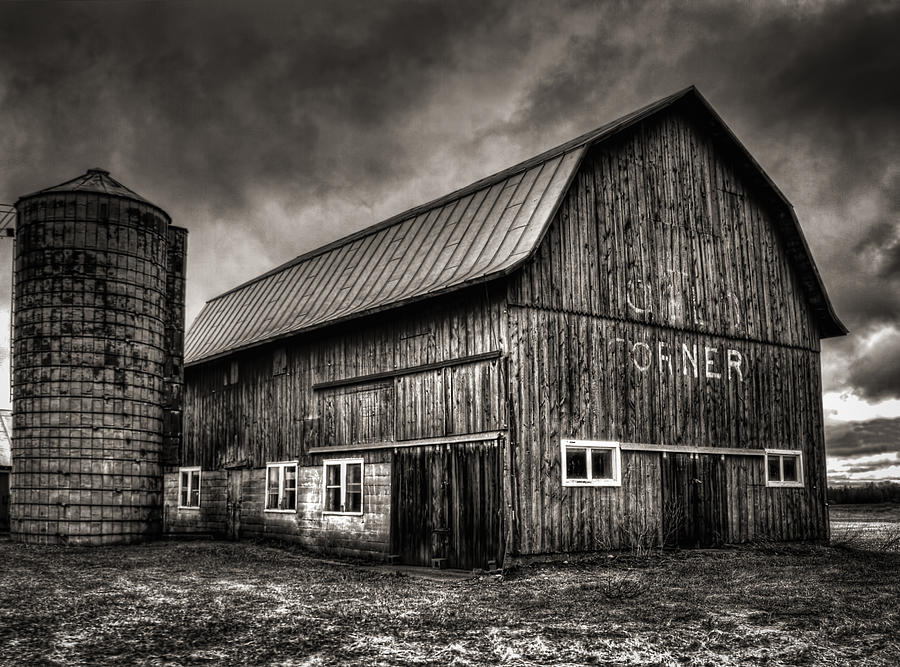 Old Barn Photograph - Oslo Corner In Black And White by Thomas Young