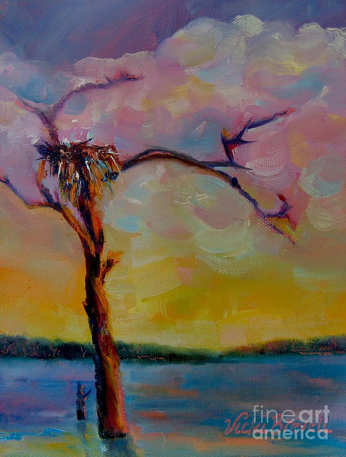 Osprey Nest - Lake Sam Rayburn by Vicki Brevell