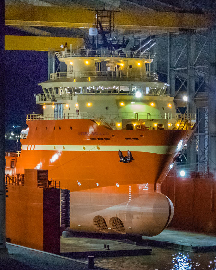 Osv In Port Fourchon Drydock Photograph by Gregory Daley  MPSA