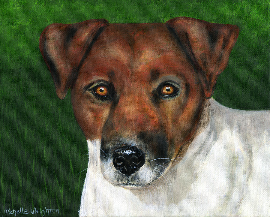 Jack Russell Terrier Painting - Otis Jack Russell Terrier by Michelle Wrighton