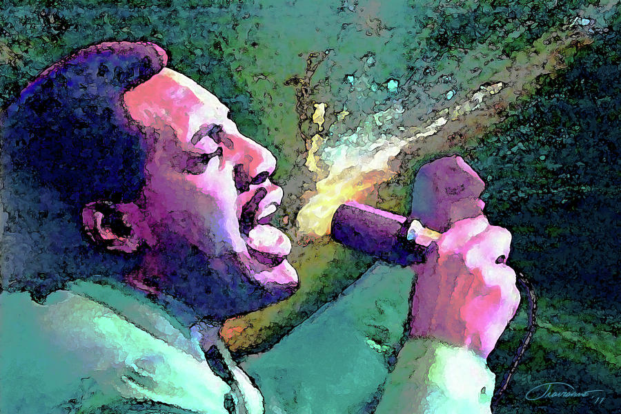 Otis Redding Painting - Otis Redding by John Travisano