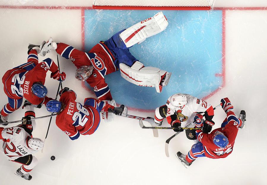 Ottawa Senators  V Montreal Canadiens Photograph by Francois Lacasse