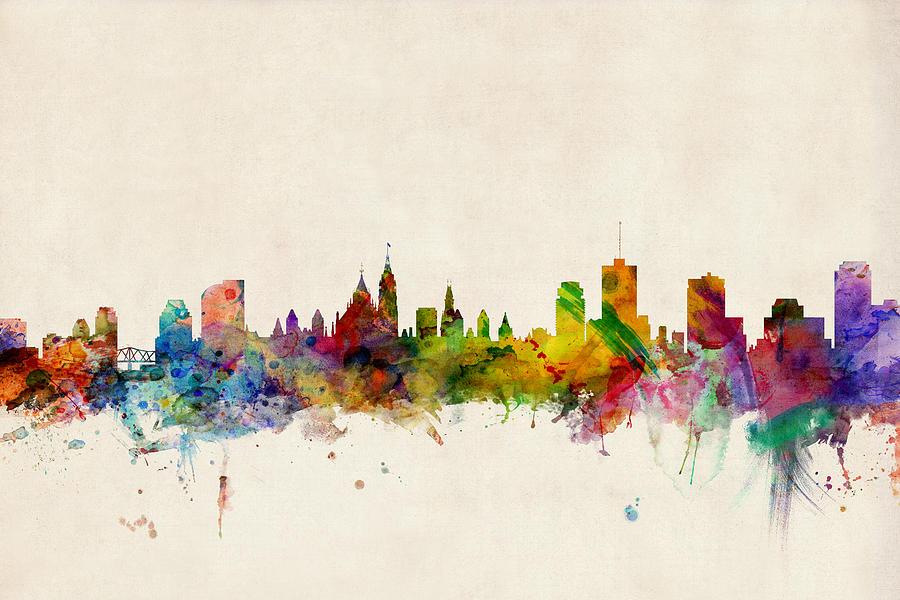 Ottawa Digital Art - Ottawa Skyline by Michael Tompsett