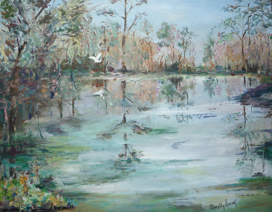 Water Painting - Otter Springs by Dorothy Herron