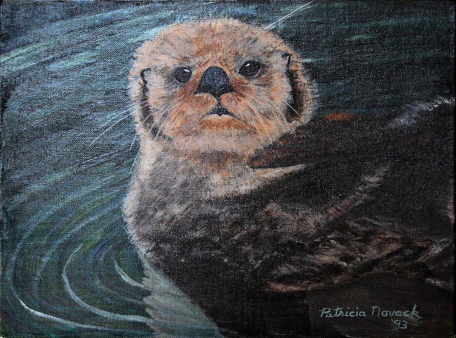 Otters Painting - Ottertude by Patricia Novack