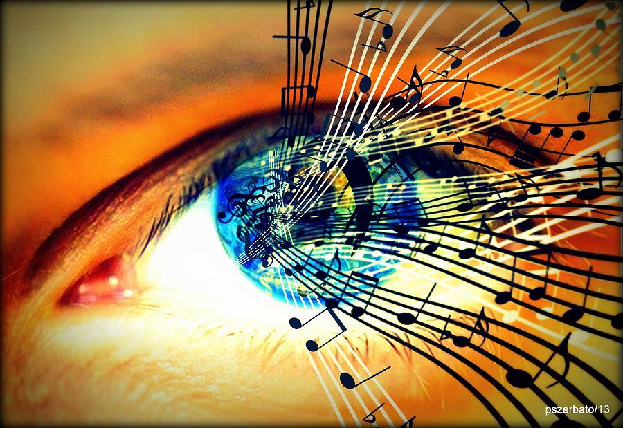 Sounds That Fuse The Retina Digital Art - Ottico - Sonoro by Paulo Zerbato