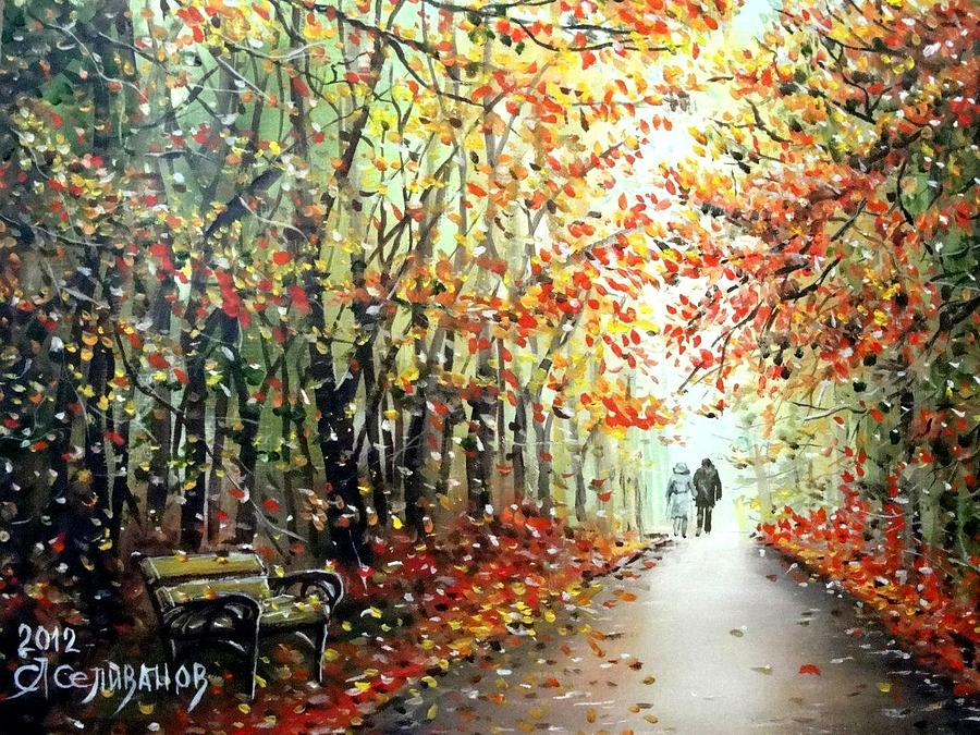 Tree Painting - Our Autumn by Sergey Selivanov