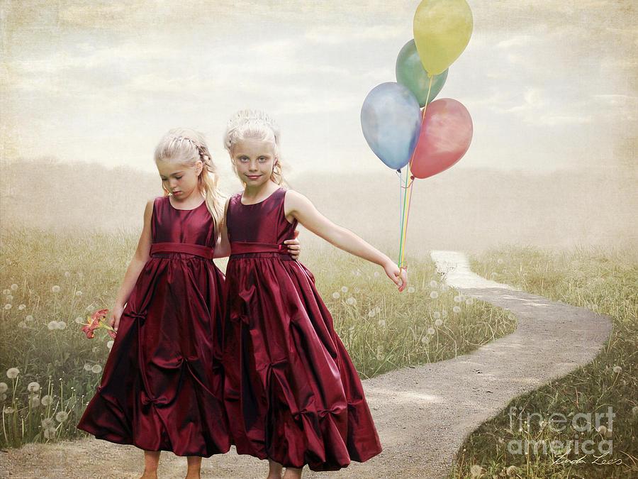 Beautiful Digital Art - Our Hearts Say Were Friends by Linda Lees