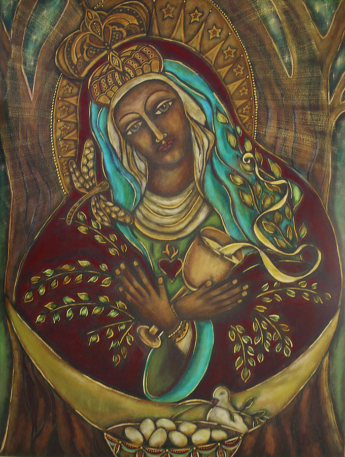 Sacred Feminine Painting - Our Lady Gate Of Dawn by Marie Howell Gallery