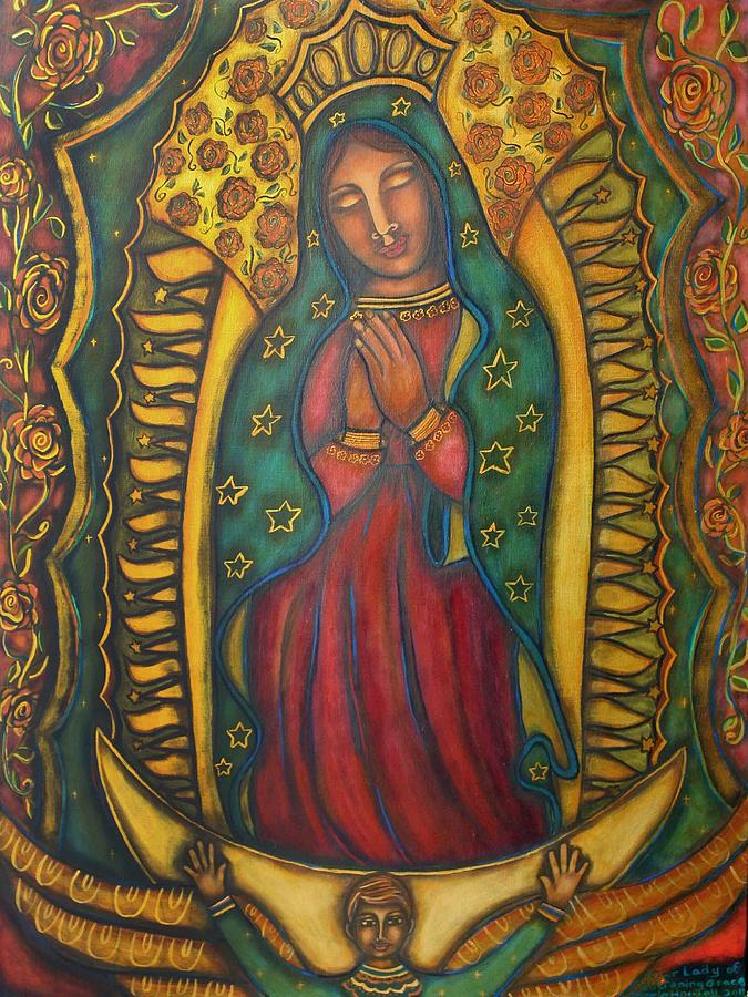 Our Lady Painting - Our Lady Of Glistening Grace by Marie Howell Gallery