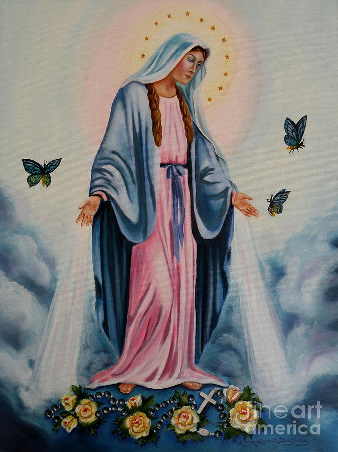 Our Lady Of Grace I Painting by Lora Duguay