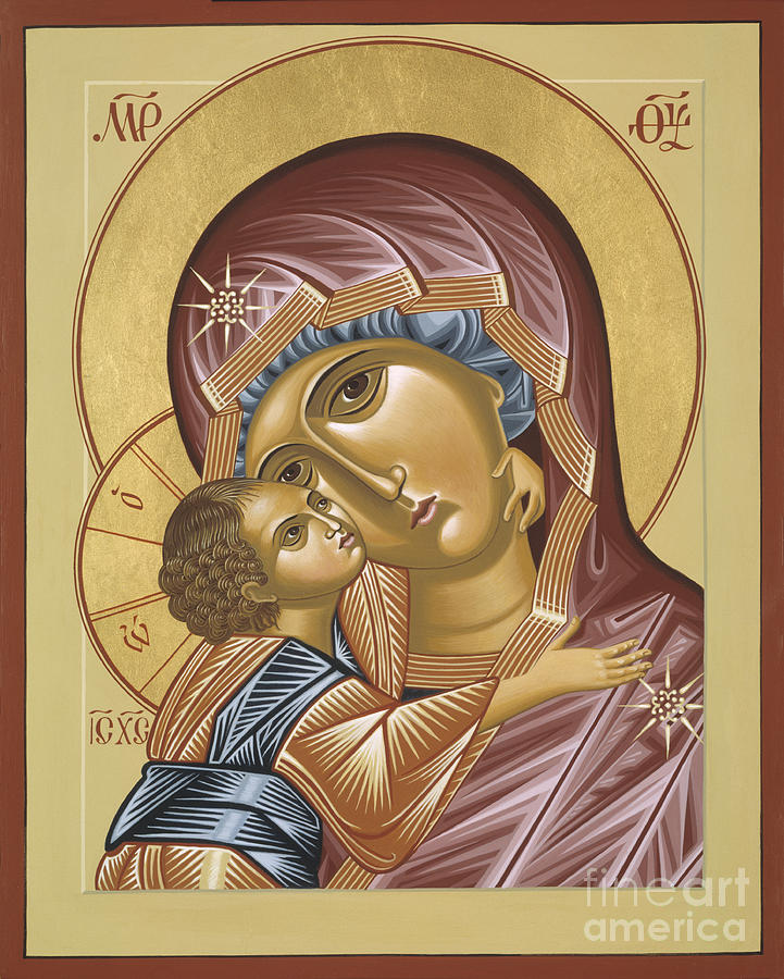 Mother Painting - Our Lady Of Grace Vladimir 002 by William Hart McNichols