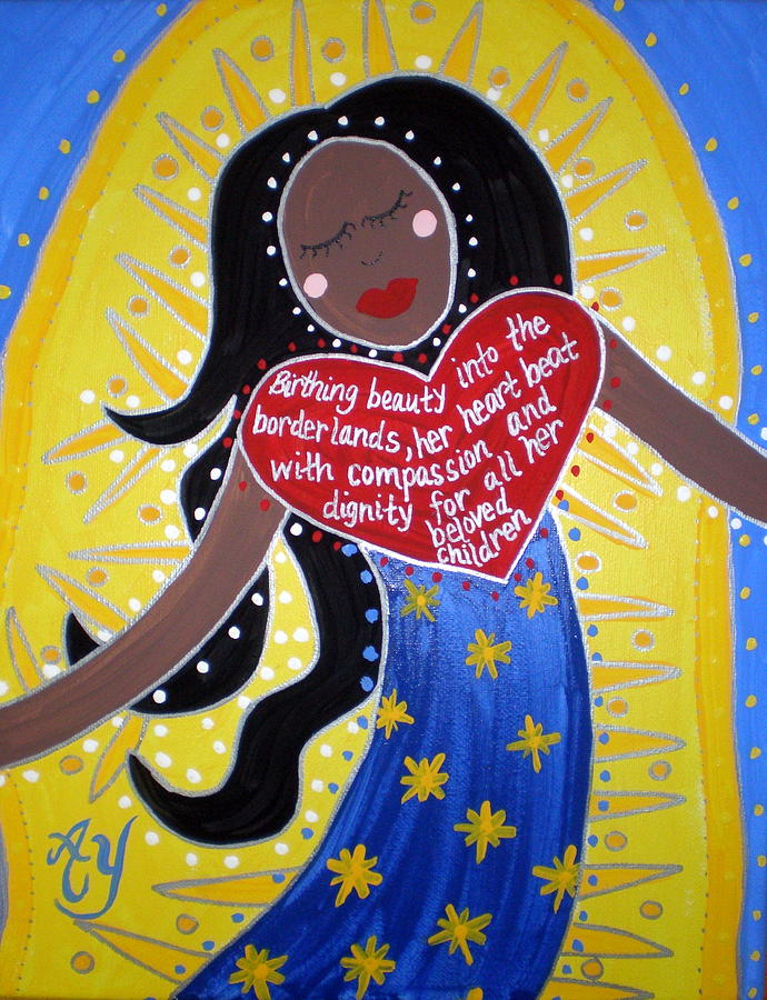 Icon Painting - Our Lady Of Guadalupe by Angela Yarber