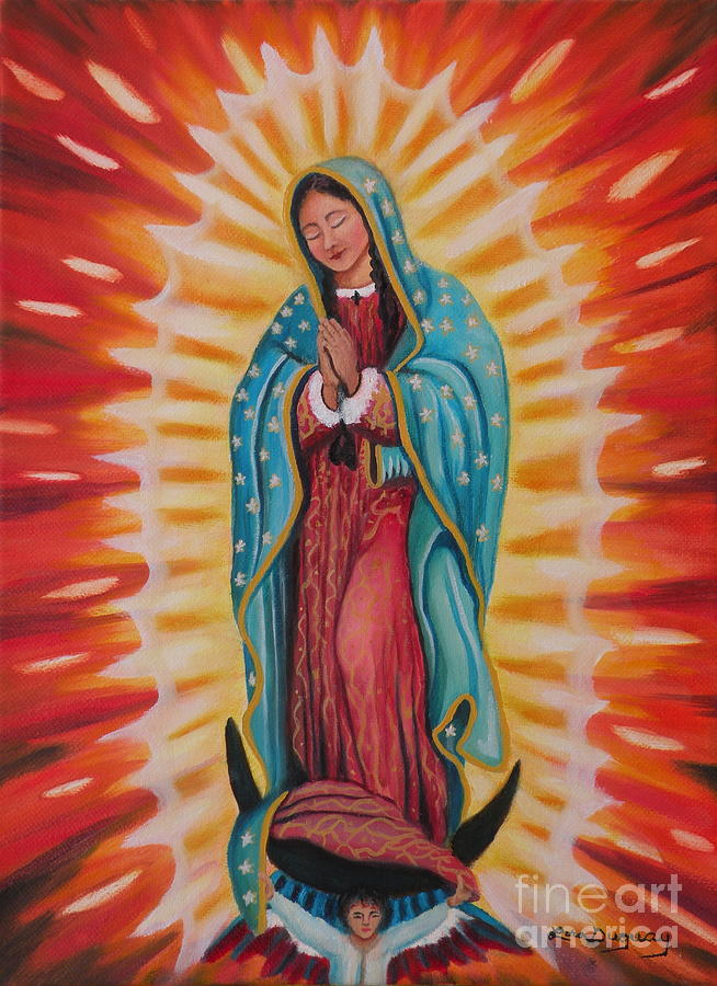 Our Lady Of Guadalupe Painting - Our Lady Of Guadalupe by Lora Duguay