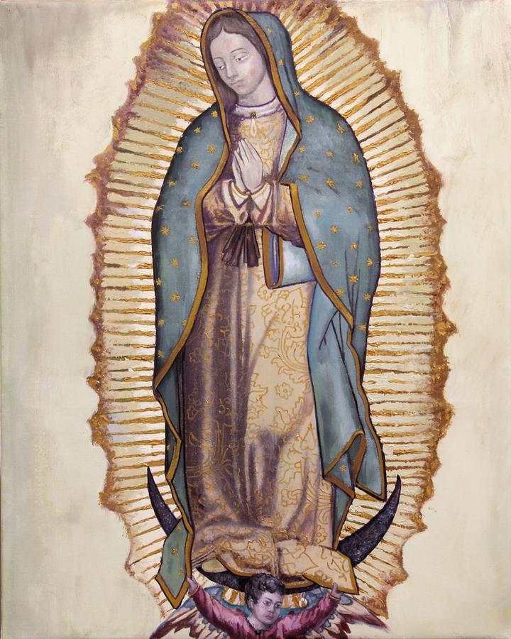 Virgin Painting - Our Lady Of Guadalupe by Richard Barone