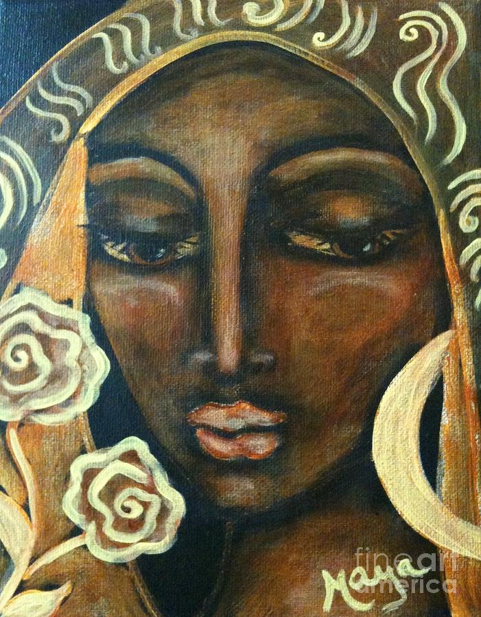 Roses Painting - Our Lady Of Infinite Possibilities by Maya Telford
