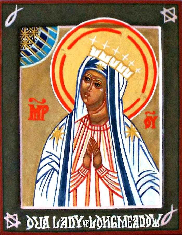 Icons Painting - Our Lady Of Longmeadow by Marcelle Bartolo-Abela