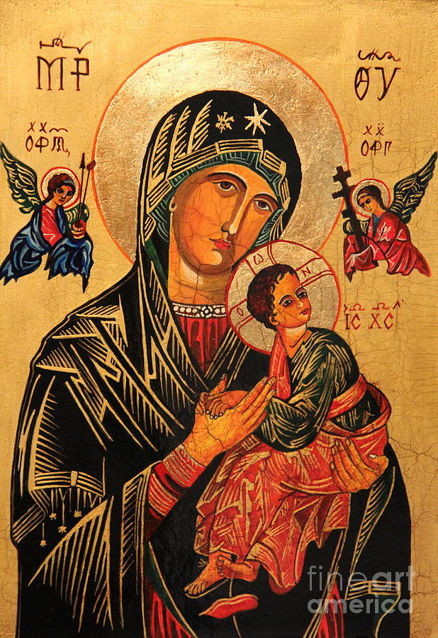 Our Lady Of Perpetual Help Icon II Painting