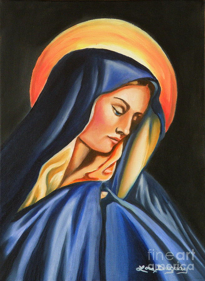 Our Lady Of Sorrows Painting - Our Lady Of Sorrows by Lora Duguay