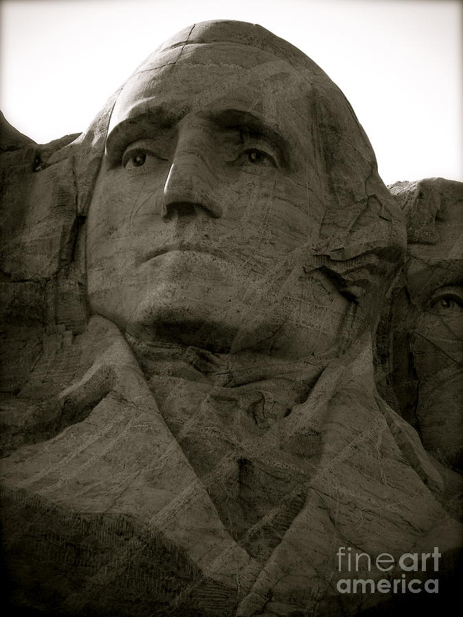 Mount Rushmore Photograph - Our Nations Patriarch by KD Johnson