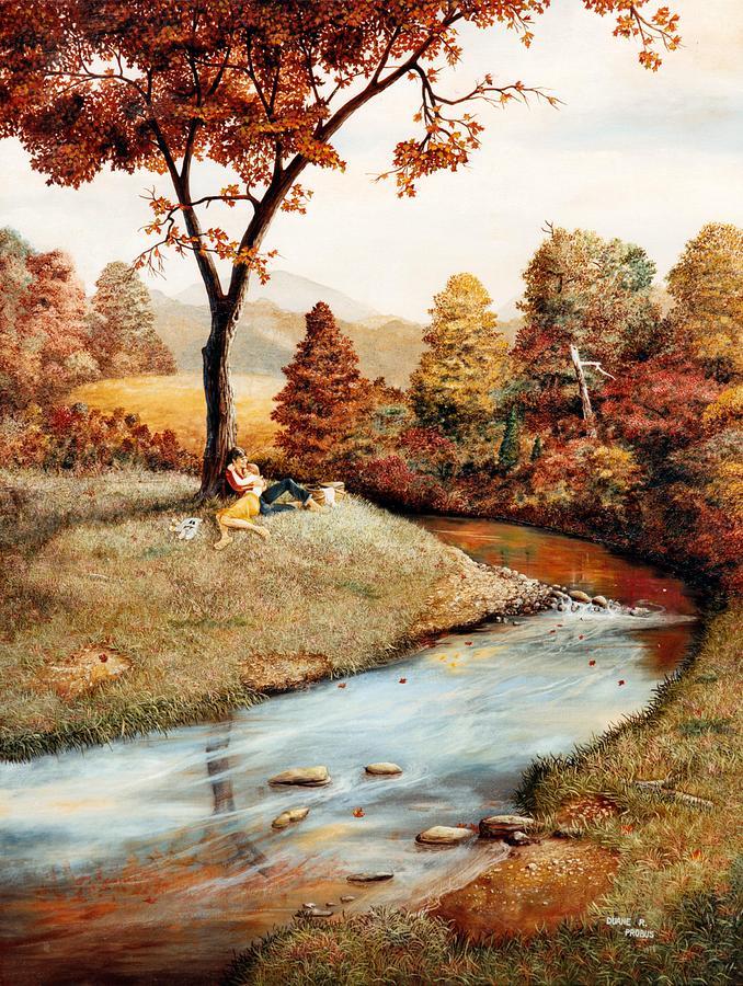 Rural Painting - Our Secret Place by Duane R Probus