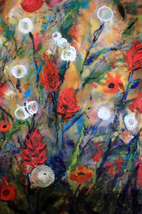 Indian Paintbrushes Painting - Our Wish Is Simple by Mary C Farrenkopf