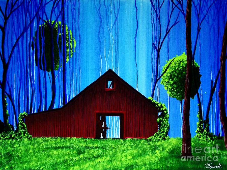 Landscape Painting - Out Behind The Barn II by Kyle  Brock