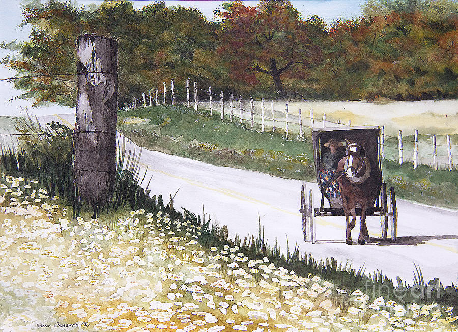 Susan Painting - Out For A Ride by Susan Crossman Buscho