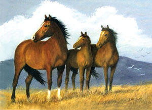 Horses Painting - Out For A Stroll by Carl McKinley