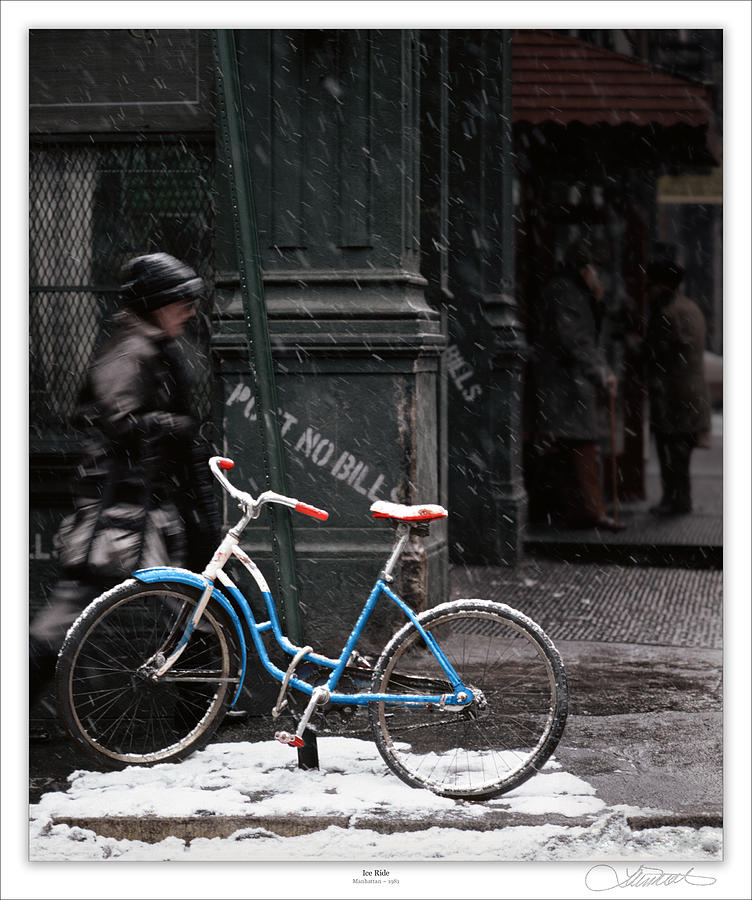 Soho Photograph - Out For An Ice Ride by Lar Matre
