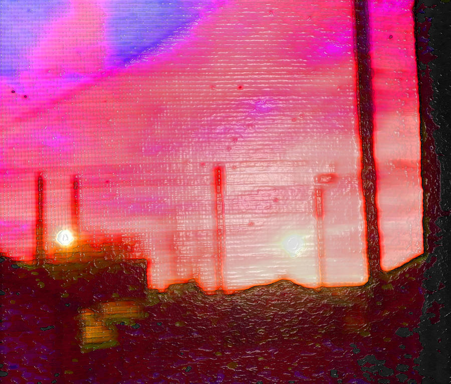 Abstract Photograph - Out My Back Window 6 Am V3 by Lenore Senior
