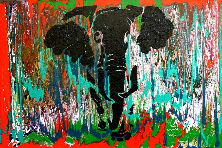 Elephant Painting - Out Of Africa by Nan Bilden