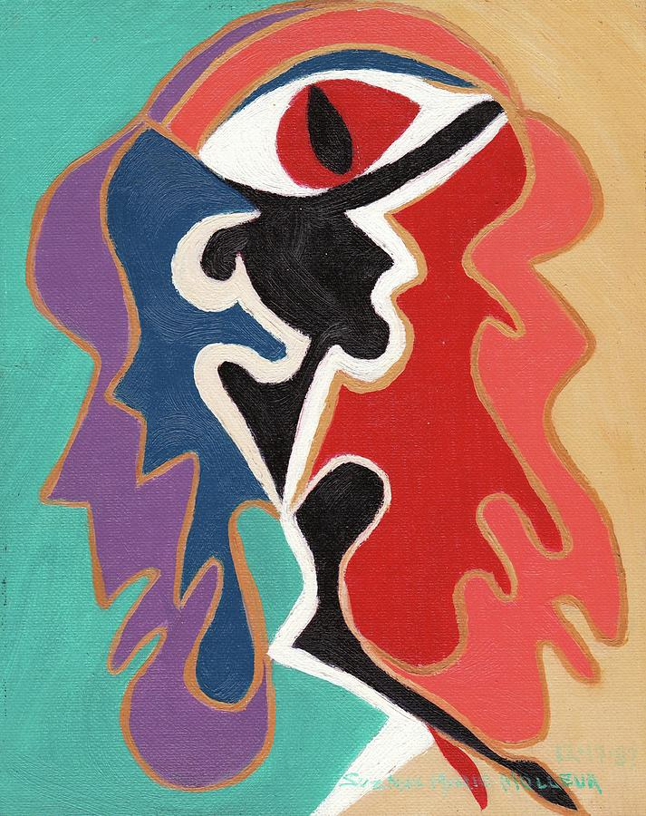 Abstract Painting - Out Of Conflict by Suzanne  Marie Leclair