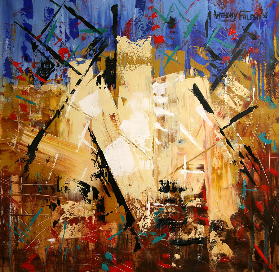 Modern Painting - Out Of Darkness by Anthony Falbo