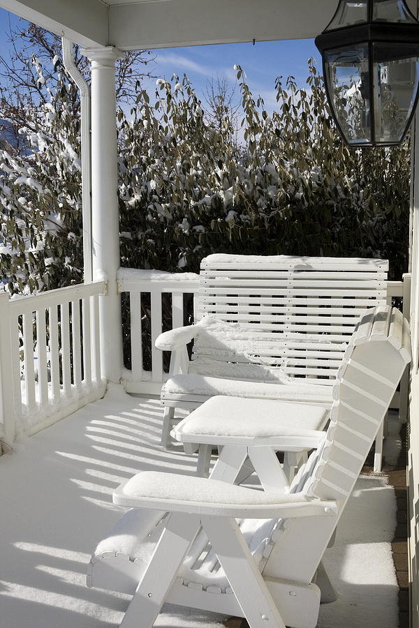 Small Porch Photograph - Out Of Season by Sally Weigand