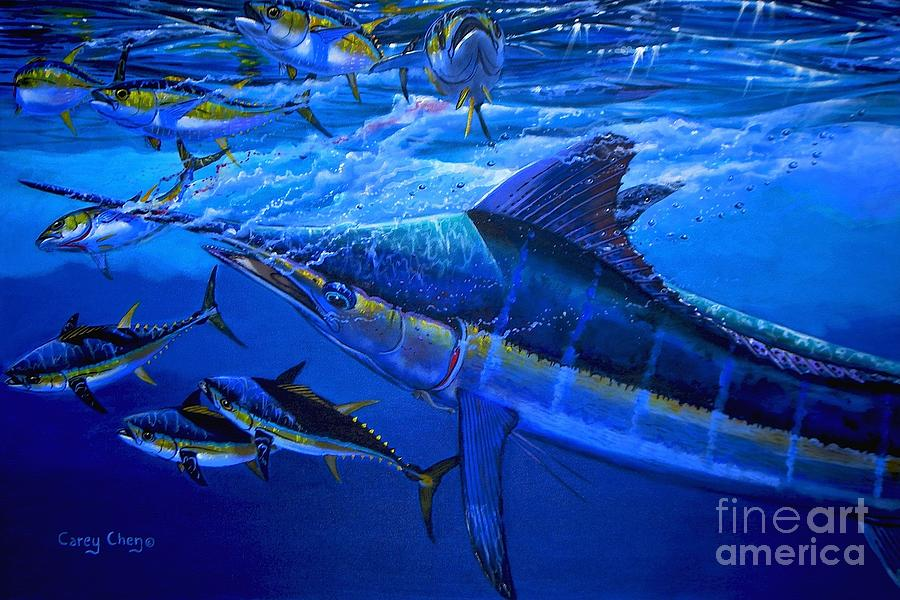 Marlin Painting - Out Of The Blue by Carey Chen