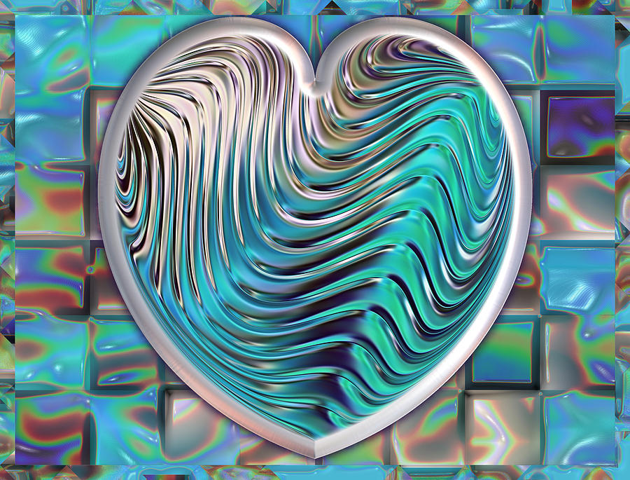 Heart Digital Art - Out Of The Blue by Wendy J St Christopher