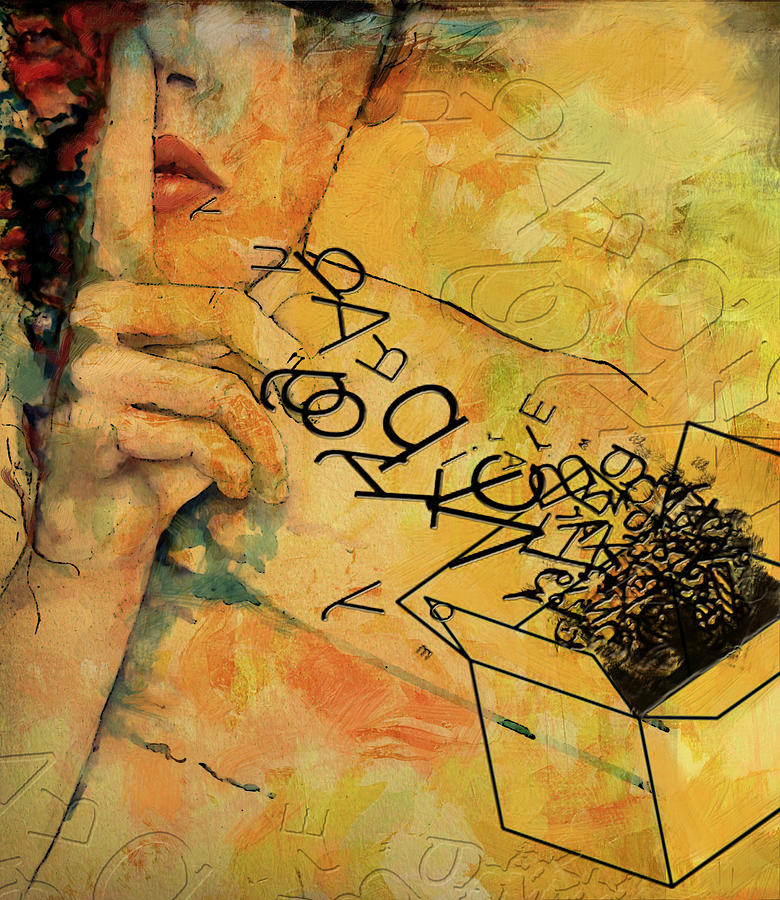 Women Painting - Out Of The Box by Corporate Art Task Force