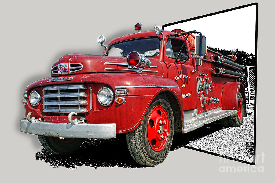 Fire Trucks Photograph - Out Of The Photo Fire Truck by Randy Harris