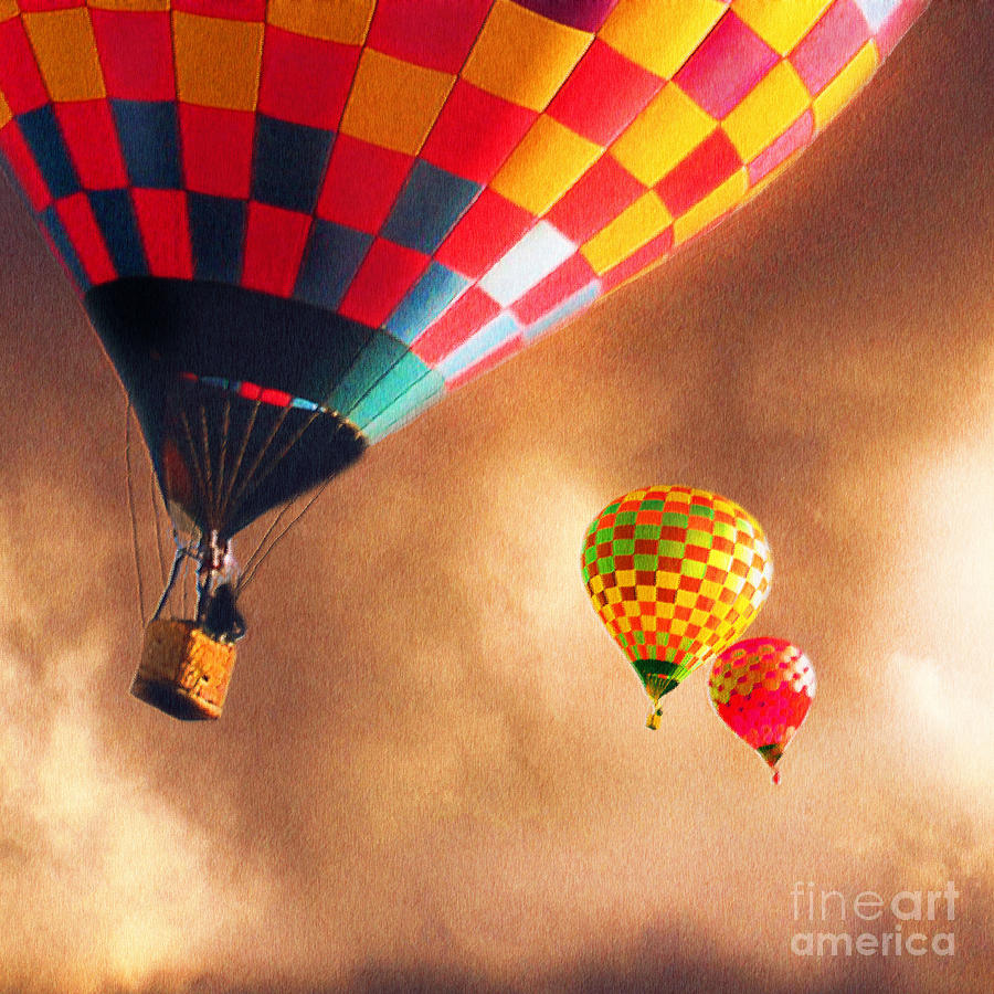 Hot Air Balloons Painting - Out Of The Storm by Artist and Photographer Laura Wrede