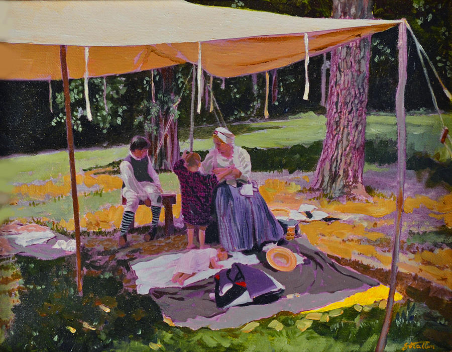 Colonial Painting - Out Of The Sun by Thomas Stratton