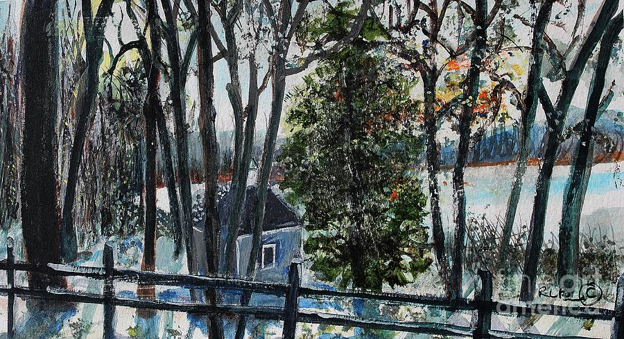 Walden Pond Painting - Out Of The Woods At Walden Pond by Rita Brown